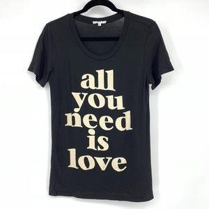 Rebecca Minkaoff All You Need Is Love Tee Shirt